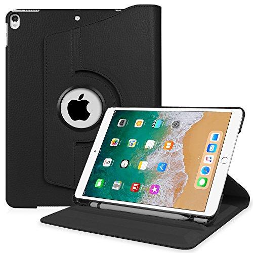 Ipad Stand Case (Fintie iPad Pro 10.5 Hülle mit eingebautem Apple Pencil Halter - 360 Grad Rotierend Stand Cover Case Schutzhülle Tasche mit Auto Schlaf / Wach Funktion für Apple iPad Pro 10,5