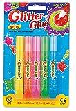 AMOS Crayons Colle Pailletée-Couleurs Neon Glitter Glue, Multicolore, 12 x 1,8 x 19 cm