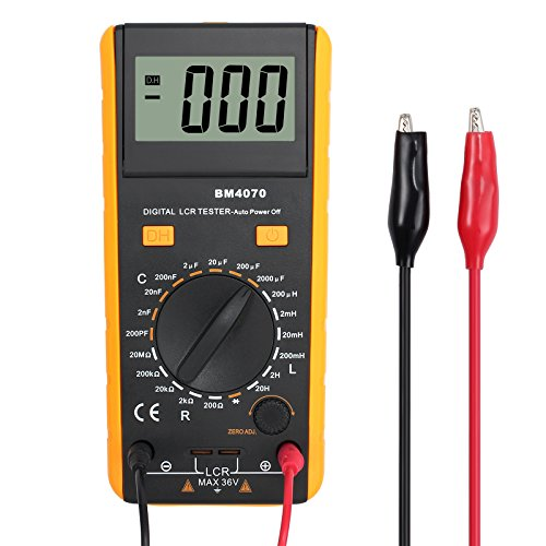 Neoteck LCR Meter BM4070 LCR Misuratore di Capacità Tester di Capacità Misura Capacità Induttanza Resistenza Misuratore di Autoscarica con LCD Display