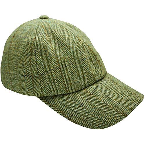 Neuf pour Homme en Tweed Casquette de Baseball Country Laine Chapeau de pêche de Prise de Vue avec revêtement en Téflon - Vert - Taille Unique