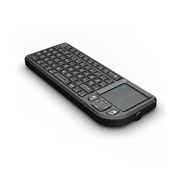 51U0w9gDxFL. SS600  - Rii Mini X1 teclado inalámbrico con ratón táctil - compatible con Smart TV, Mini PC Android, PlayStation, Xbox, HTPC, PC, Raspberry Pi