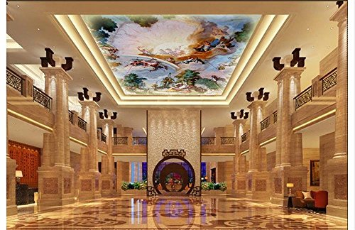 Weaeo 3D Wallpaper Benutzerdefinierte Wandbild Schönheit Vliestapete Der Engel Erzählte Der Renaissance Fresken Tapete-120X100Cm (Renaissance-streifen)