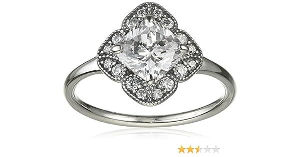 anello fiore brillante pandora