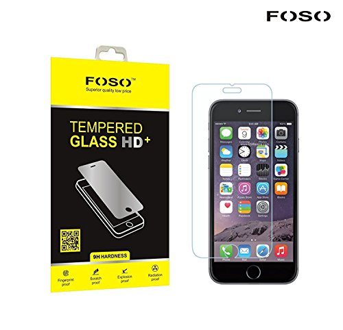 """for Apple iPhone 6S / 6 (4.7"""" inch) 2.5D Curved Edge FOSO(TM) 9H Hardness Toughened Tempered Glass Screen Guard Protector [3D Touch Compatible]"""