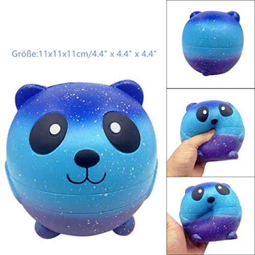 DOLDOA Panda Squishy Langsam steigende Dekompression Squeeze Spielzeug (Panda 5) (Mesh-rüschen-bh Top)