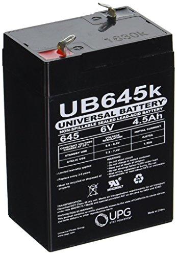 UPG UB645versiegelte Blei-Säure-Batterien schwarz