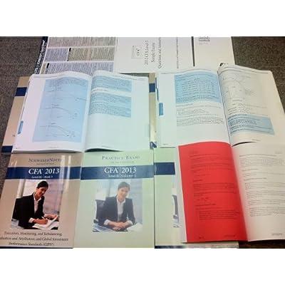 2013 CFA Level 3 III Exam Schweser Study Notes Package, Practice Exams, Secret Sauce, Quick Sheet, QBank, Bonus