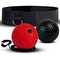 Deluxura Boxe Ball Riflessi Pallina per Reflex Boxing Box Palla Allenamento Ultra Speed Fight Decompressione Equipment Pugilato Tennis con Gioco Matador Guanti Attrezzatura Veloce Speedball