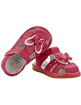 YXY - Zapatos de cuero chirriantes - squeaky shoes niñas | Sandalias de color rosa
