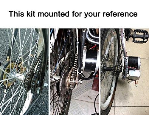 250w spazzola elettrica motore per bicicletta elettrica acceleratore con chiave interruttore e batteria di voltaggio semplice motore kit per il bricolage e-bike - 5