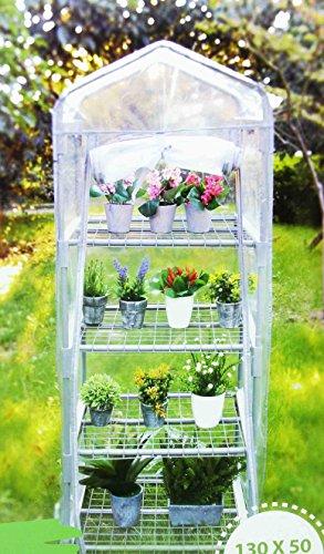 Serre de Jardin 4 Etages 130x50x45cm - Jardinage Cultiver Plante Fleur 406