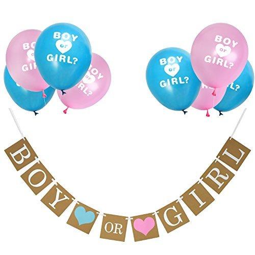 nd Geschlecht Offenbaren Ballons Set für Baby Dusche Geschlecht Zeigen Party Schwangerschaft Ankündigung (Baby Boy Ankündigungen)