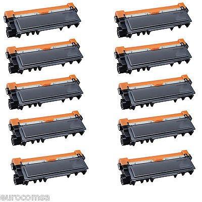 Confezione da 10 Toner compatibili per Brother TN2220 MCF-7360N MFC-7460DN MFC-7360 2840 HL-2130 HL-2250DN HL-2132 HL-2220 HL-2230 HL-2240 HL-2270DW DCP-7060D DCP-7065DN - Alto rendimento