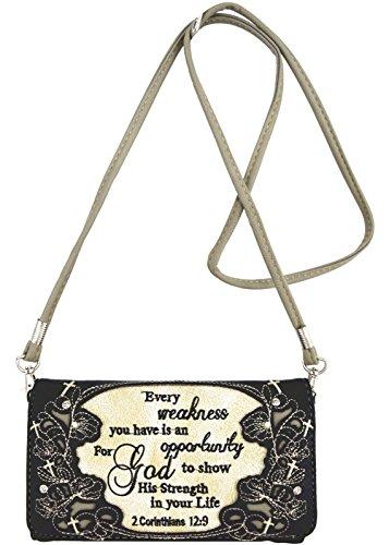 Western-wallet Schwarze (Blancho Bettwäsche Womens [Exquisite Western] PU Leder Wristlet Wallet Zipper Geldbörse Kartenhalter Schwarz)