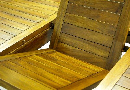 Divero Terrassenmöbel-Set Gartenmöbel-Garnitur Sitzgruppe – großer Esstisch 180/240 cm ausziehbar 6 Hochlehner mit Armlehne – Akazie massiv behandelt Bild 2*