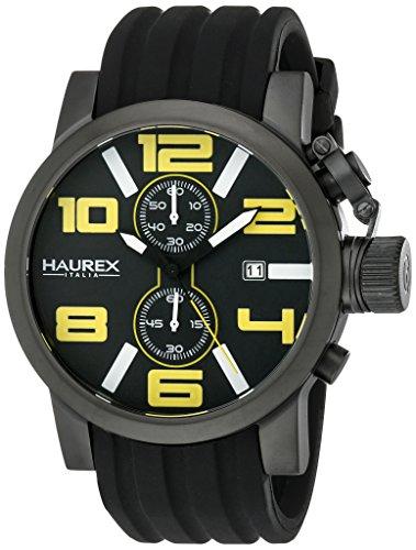 Haurex Italy Men's 6N506UYN TURBINA II Black Stainless Steel Watch
