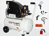 Starkwerk Druckluft Kompressor SW 255/08 inkl. 13 tlg. Druckluft Set
