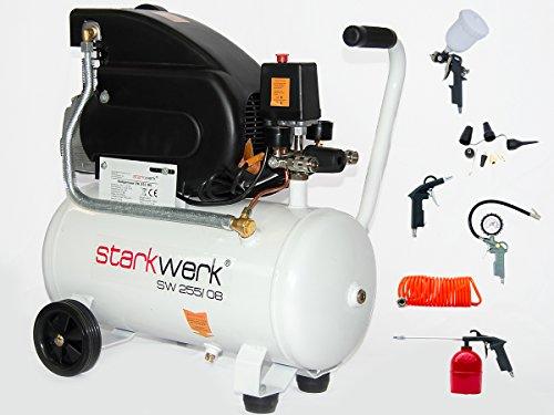 Preisvergleich Produktbild Starkwerk Druckluft Kompressor SW 255/08 inkl. 13 tlg. Druckluft Set