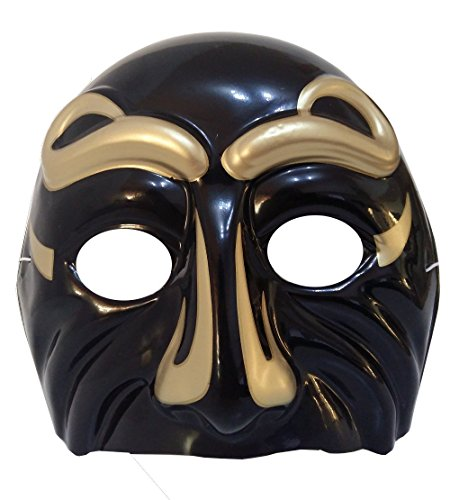 (Inception Pro Infinite Maske für Kostüm - Verkleidung - Karneval - Halloween - Theater - Klassisch - Venezianische Kunst - Neapolitanisch - Schwarze Farbe - Erwachsene - Unisex - Frau - Mann - Jungen)