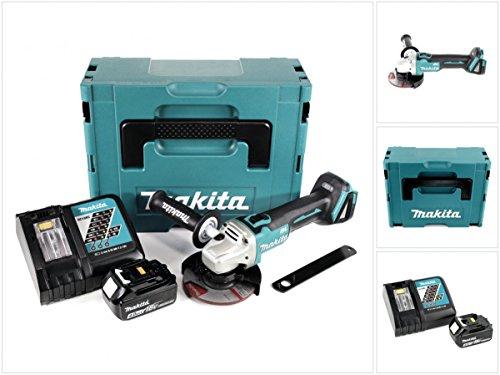 Makita DGA 504 RM1J 18 V 125 mm brushless Akku Winkelschleifer im MAKPAC inkl. 1x BL 1840 Akku + DC18RC Ladegerät