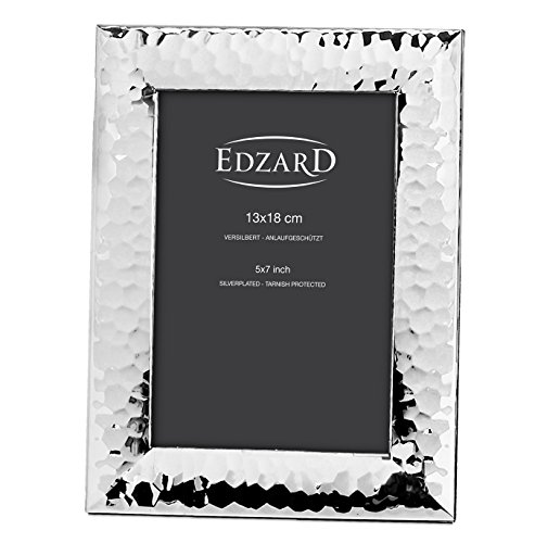 Edzard portafoto gubbio per foto 13x18 cm, argento pregiato placcato, antiossidante