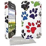 StyleBitz coque souple pour Samsung Galaxy Ace S5830 avec protecteur d'écran et tissu de nettoyage, motif pattes de chat / (multicolore)