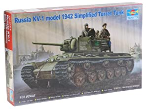 Trumpeter 358 - Rusia KV-1, de Lunes a 1942, simplificado del Tanque Torreta Importado de Alemania