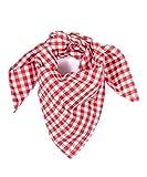 Tracht & Pracht - Herren Baumwolle - Trachtentuch Nickituch Karo - Rot