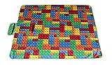 Picknickdecke weiche Stranddecke Brick Bausteine bunt Outdoor Decke wasserabweisend 130 x 170 cm