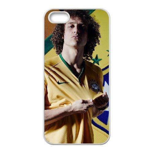 David Luiz coque iPhone 5 5S Housse Blanc téléphone portable couverture de cas coque EBDXJKNBO13359