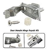 Chrom-Auto-Außentür-Griff-Scharnier-Reparatursatz-Fahrzeug-Zusätze für FIAT 500 (Farbe: Silber)