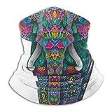 YudoHong Fleece-Nackenwärmer , Multifunktionsfarbe Ornament Elephant ScarfFull Gesichtsmaske Winter Keep Warmer Staub Sonnenschutz Sport
