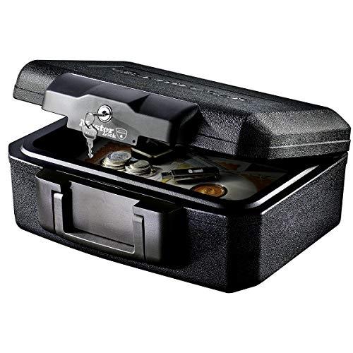 MASTER LOCK Sicherheitskassette [Feuerfest] [Small] [Schlüsselschloss] L1200 - Für Ausweise, kleine Elektrogeräte, Juwelen usw.