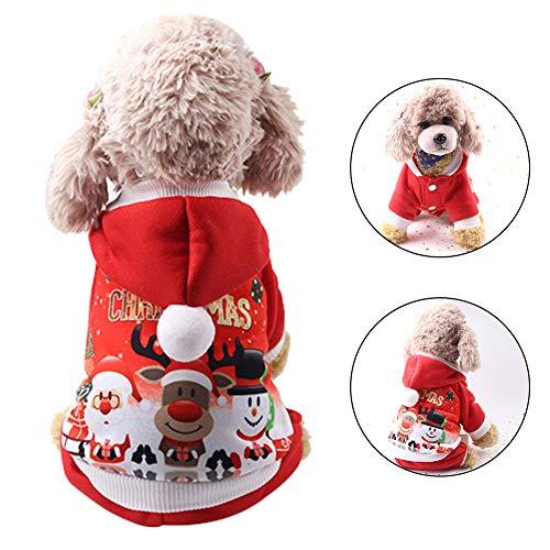 AmadoR Pet Christmas Shirt Hoodie, Hund warme Kleidung, -
