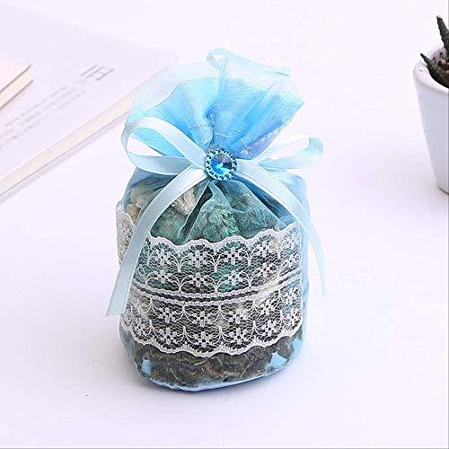 txxzn Duft Tasche 1pcs Getrocknete Blume Duftende Sachet In Spitze Tasche Schublade Auto Parfüm Aromatherapie Paket blau -