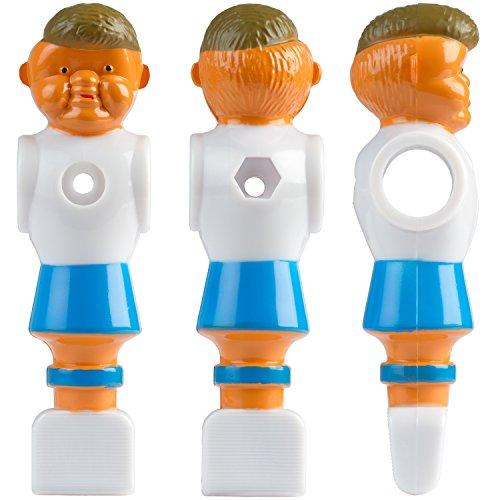 22x Tischfußball Figuren für 5/8 Zoll bzw. 15,9 mm Stangen, für VOLLSTANGEN + HOHLSTANGEN, inkl. Schrauben- und Mutternsatz, Tischkicker Kicker -