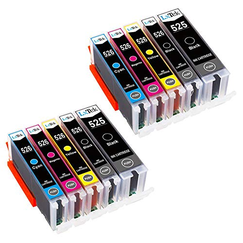 LxTek Kompatibel für Canon 525 526 PGI-525 CLI-526 Druckerpatronen für Canon PIXMA MG5150 MG5350 MG5250 IX6550 MX885 MX895 MX715 IP4950 IP4850 MG6150 (2 PGBK, 2 Schwarz, 2 Cyan, 2 Magenta, 2 Gelb)