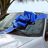GiftWrap Etc. Grand Arc de Voiture Bleu Royal - Décoration de Cadeau avec Un Grand Ruban, entièrement assemblée, 25' de Large, Noël, Anniversaire, Remise des diplômes