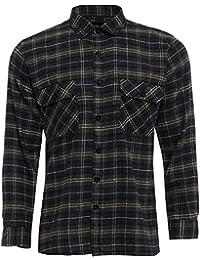 Dalsa TB Vêtements pour Homme Travail Chemises Lumberjack de Coton brossé  Flanelle Manches Longues Chemise à c68a5e4bc5e9