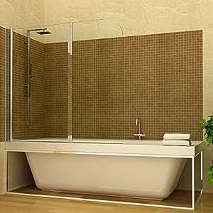 Duschabtrennung Badewannenfaltwand Duschwand 2 Türflügel schwenkbar links