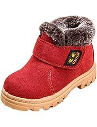 2d7f10762 Botas De Invierno Niño Niña Botas De Nieve Caliente Botines Antideslizante  Martin Zapatos