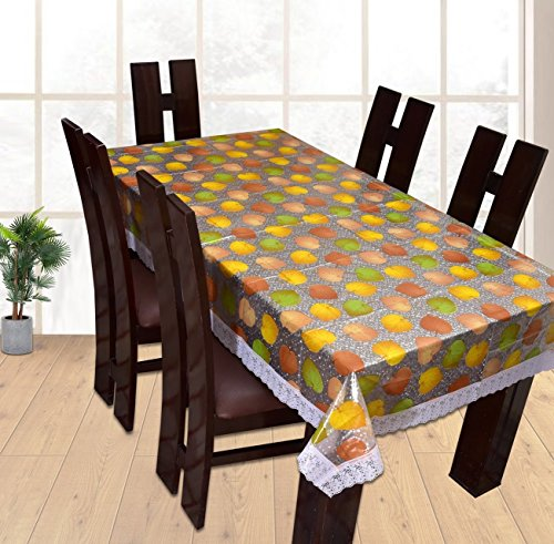 Yellow Weaves™ Dining Table Cover Waterproof Floral 6 Seater 60X90 Inches( Exclusive Design)