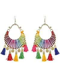 Unibrand - The Indian Handicraft Store Add Another Stunning/Adorable Trend Of Pom-Pom Multi-Color New Tribal Tassel...