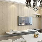 Moderne Unbedeutende Dunkelblaue Tapete der Vertikalen Streifen, Wohnzimmerhintergrund-Tapete Chinesische Art-Vliesstoff-Schlafzimmertapete,Khaki,5,3 Quadratmeter Pro Rolle