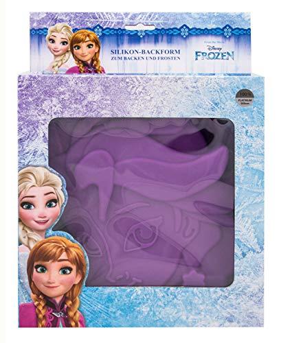 POS 28251 - Silikon Backform Disney Frozen Elsa, ca. 23 x 26 x 5 cm groß, 100% lebensmittelechtes Platin-Silikon, hitze- und kältebeständig von 230° bis -60°C, Spülmaschinengeeignet