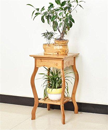 LIANLIAN Rétro bambou pot de fleur plate-forme étagère exquis porte-fleur pour le salon balcon Echelle à fleurs (taille : 30*30*53cm)