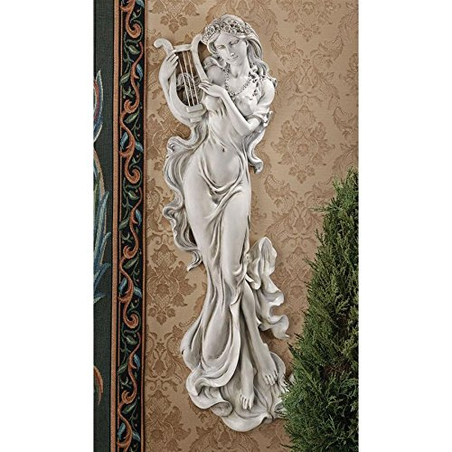 Design Toscano Musizierende Muse, Wandfigur: 2er-Set