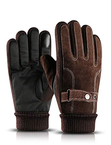 BOYOU Herren Warmen Windproof Radfahren Handschuhe, Winter Outdoor Touchscreen Handschuhe