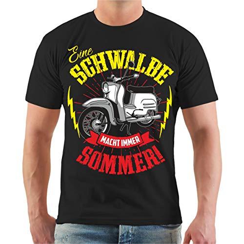 Männer und Herren T-Shirt Eine Schwalbe Macht Immer Sommer Größe S - 8XL