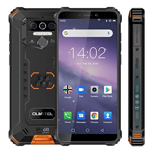 "OUKITEL WP5 Robustes Telefone Display 5.5"", 8000mAh Großer Akku 4G Handy, Quad-Core 3GB +32GB Mobiletelefon, IP68 Militär Mobiltelefon Android 9.0, Dreifachkamera, Dual SIM/OTG/GPS"